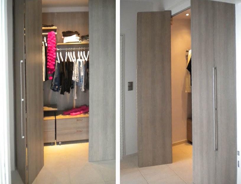 Πτυσσόμενες και συρόμενες πόρτες ντουλάπας
